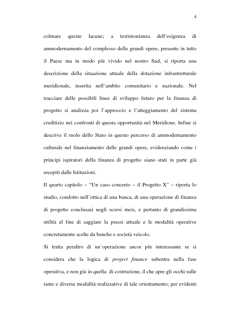 Anteprima della tesi: Il project financing e sue opportunità applicative nel Meridione, Pagina 4