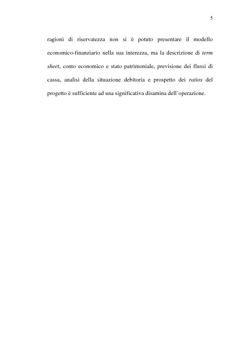 Anteprima della tesi: Il project financing e sue opportunità applicative nel Meridione, Pagina 5