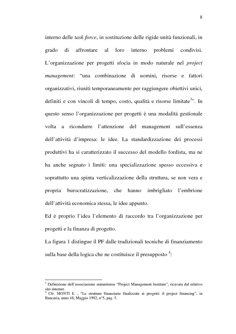 Anteprima della tesi: Il project financing e sue opportunità applicative nel Meridione, Pagina 8