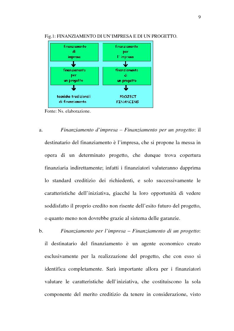 Anteprima della tesi: Il project financing e sue opportunità applicative nel Meridione, Pagina 9