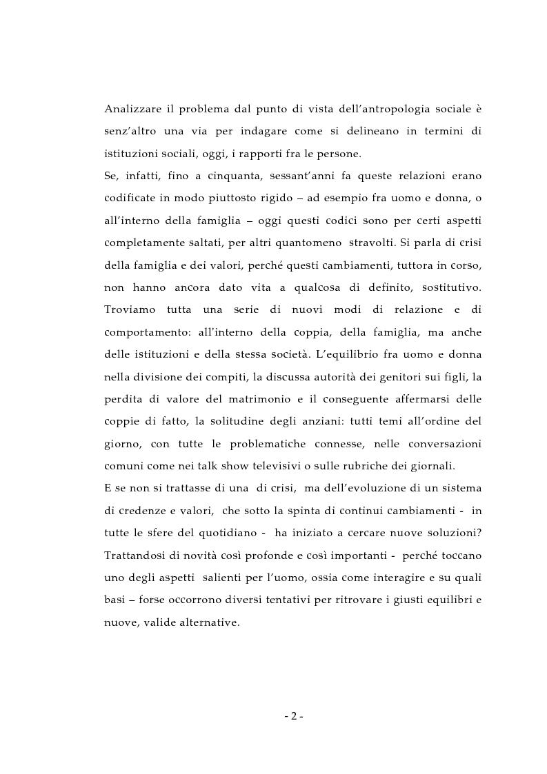 Anteprima della tesi: Aspetti antropologici della seconda transizione demografica, Pagina 2