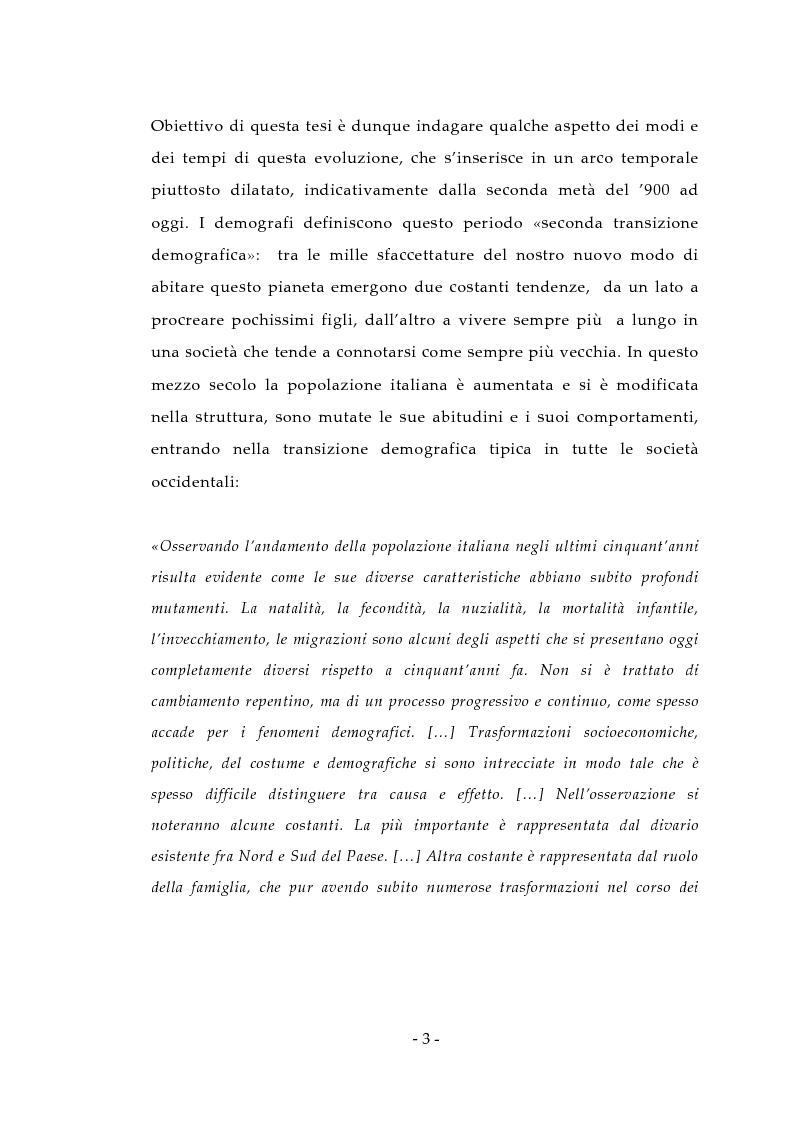 Anteprima della tesi: Aspetti antropologici della seconda transizione demografica, Pagina 3