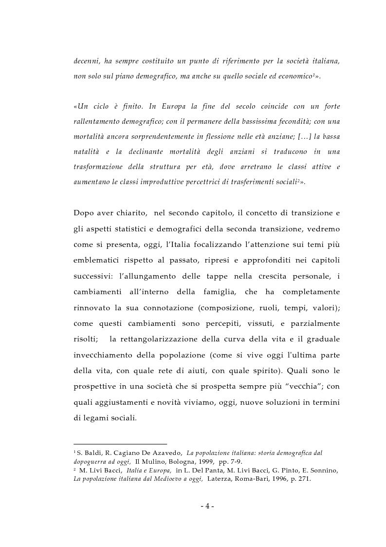 Anteprima della tesi: Aspetti antropologici della seconda transizione demografica, Pagina 4