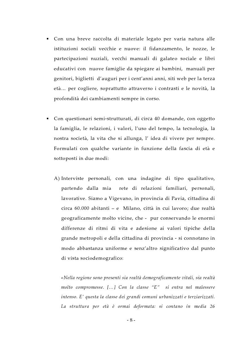 Anteprima della tesi: Aspetti antropologici della seconda transizione demografica, Pagina 8
