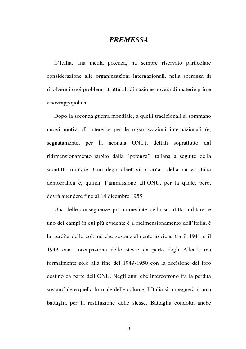 Anteprima della tesi: L'Italia, l'Onu e la decolonizzazione, Pagina 1