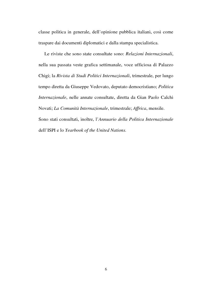 Anteprima della tesi: L'Italia, l'Onu e la decolonizzazione, Pagina 4