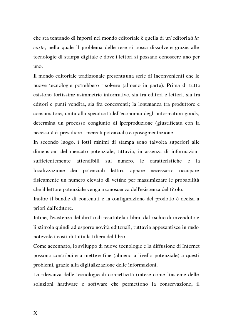 Anteprima della tesi: Analisi e strategie di marketing per lo sviluppo dell'e-book: fondamenti teorici ed evidenze empiriche, Pagina 2