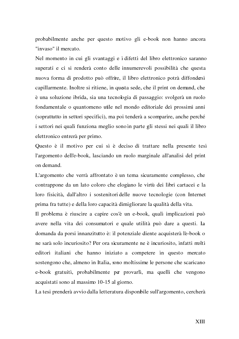 Anteprima della tesi: Analisi e strategie di marketing per lo sviluppo dell'e-book: fondamenti teorici ed evidenze empiriche, Pagina 5