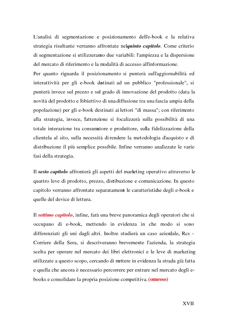 Anteprima della tesi: Analisi e strategie di marketing per lo sviluppo dell'e-book: fondamenti teorici ed evidenze empiriche, Pagina 9
