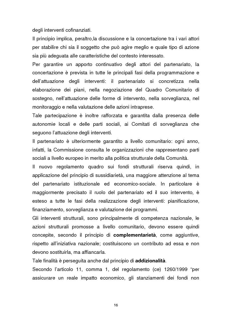Anteprima della tesi: I Fondi Strutturali Europei. Il Fondo Sociale Europeo nella Regione Abruzzo, Pagina 12