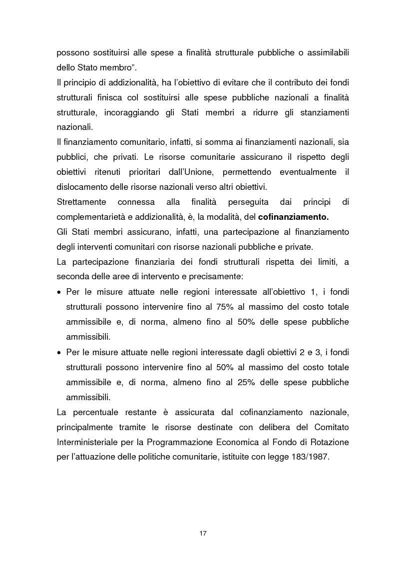 Anteprima della tesi: I Fondi Strutturali Europei. Il Fondo Sociale Europeo nella Regione Abruzzo, Pagina 13