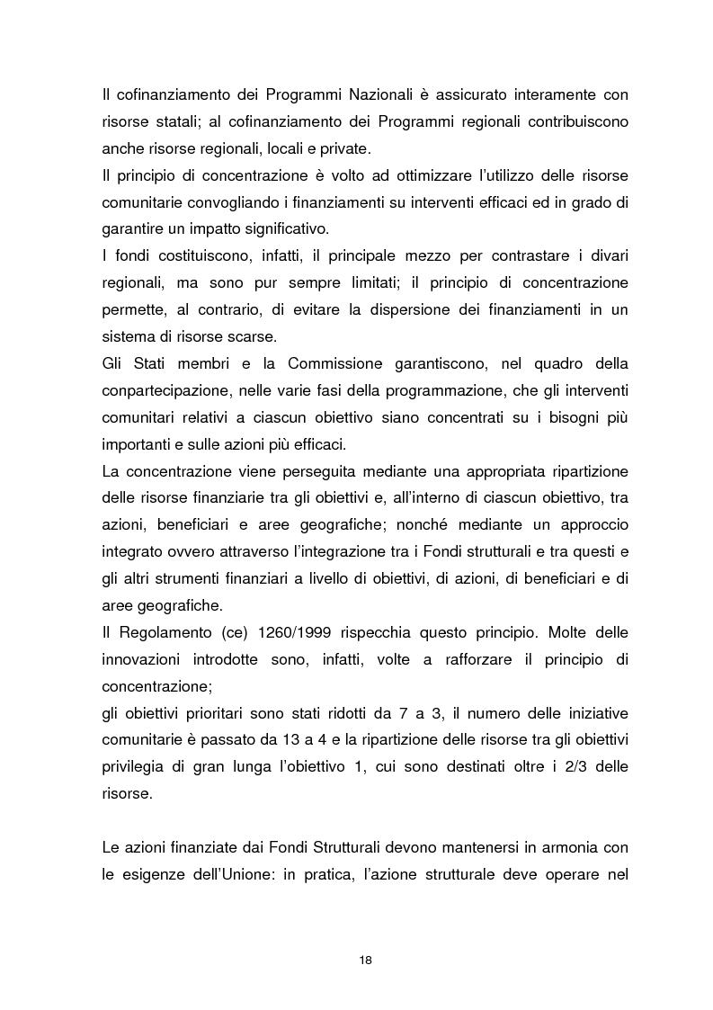 Anteprima della tesi: I Fondi Strutturali Europei. Il Fondo Sociale Europeo nella Regione Abruzzo, Pagina 14