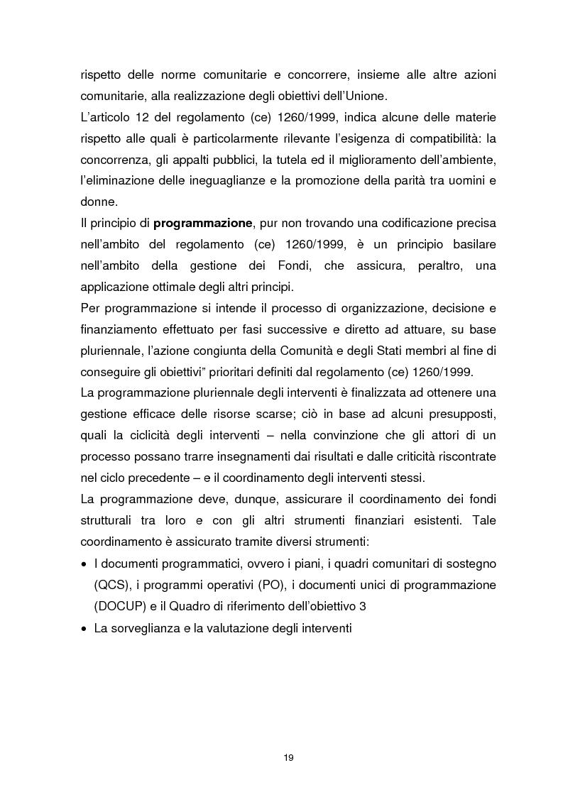Anteprima della tesi: I Fondi Strutturali Europei. Il Fondo Sociale Europeo nella Regione Abruzzo, Pagina 15