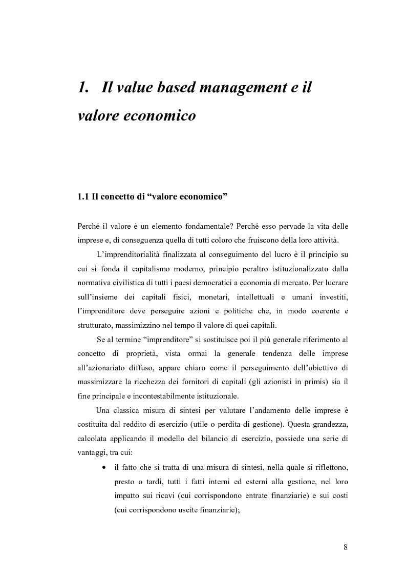 Anteprima della tesi: Riferimenti Teorici e Strumenti alla base del Value-based Management, Pagina 2