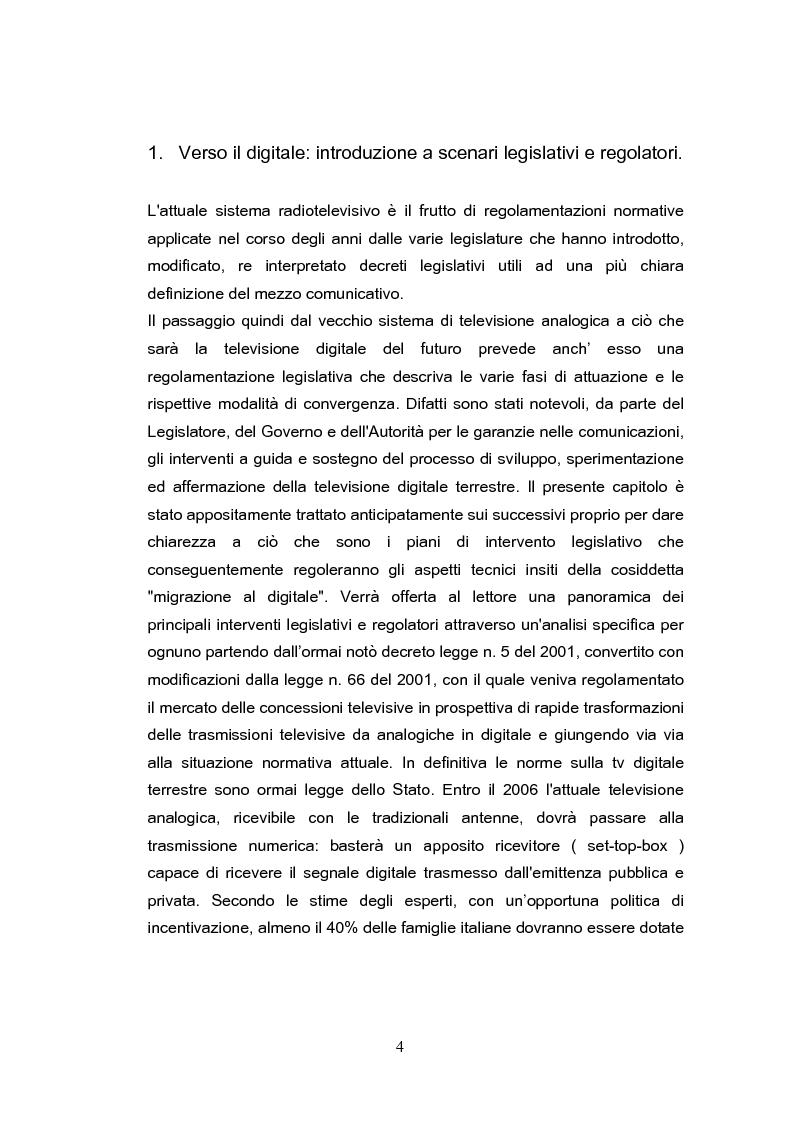 Anteprima della tesi: Forme e scenari futuribili della Televisione Digitale Terrestre, Pagina 4