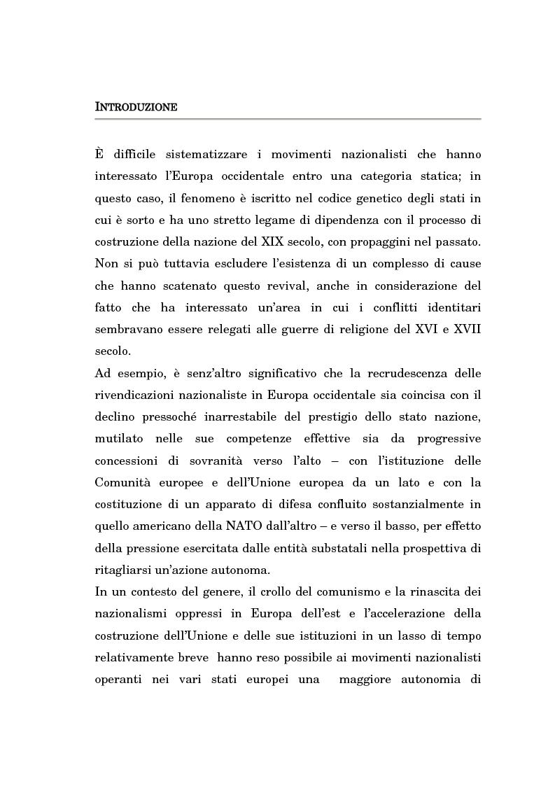 Anteprima della tesi: Nazionalismo ed autodeterminazione: il caso basco nel contesto europeo, Pagina 1