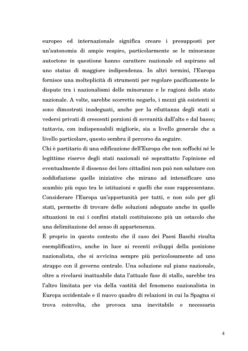 Anteprima della tesi: Nazionalismo ed autodeterminazione: il caso basco nel contesto europeo, Pagina 4