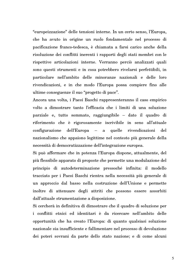 Anteprima della tesi: Nazionalismo ed autodeterminazione: il caso basco nel contesto europeo, Pagina 5