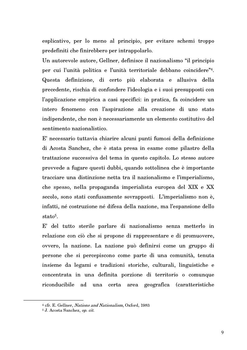 Anteprima della tesi: Nazionalismo ed autodeterminazione: il caso basco nel contesto europeo, Pagina 9