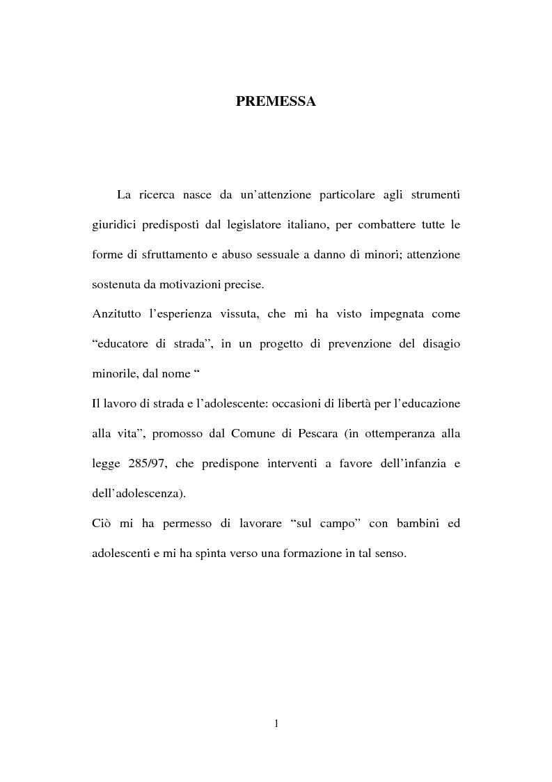 Anteprima della tesi: La nuova normativa penale contro la pedofilia, Pagina 1