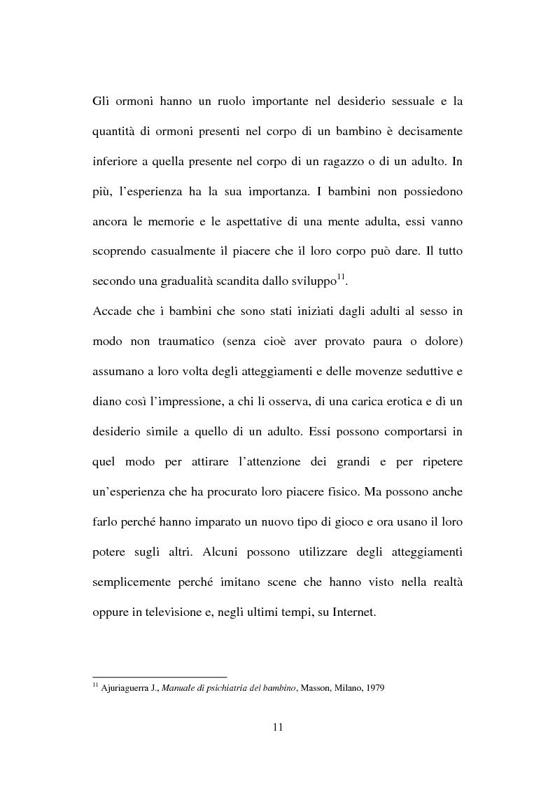 Anteprima della tesi: La nuova normativa penale contro la pedofilia, Pagina 11