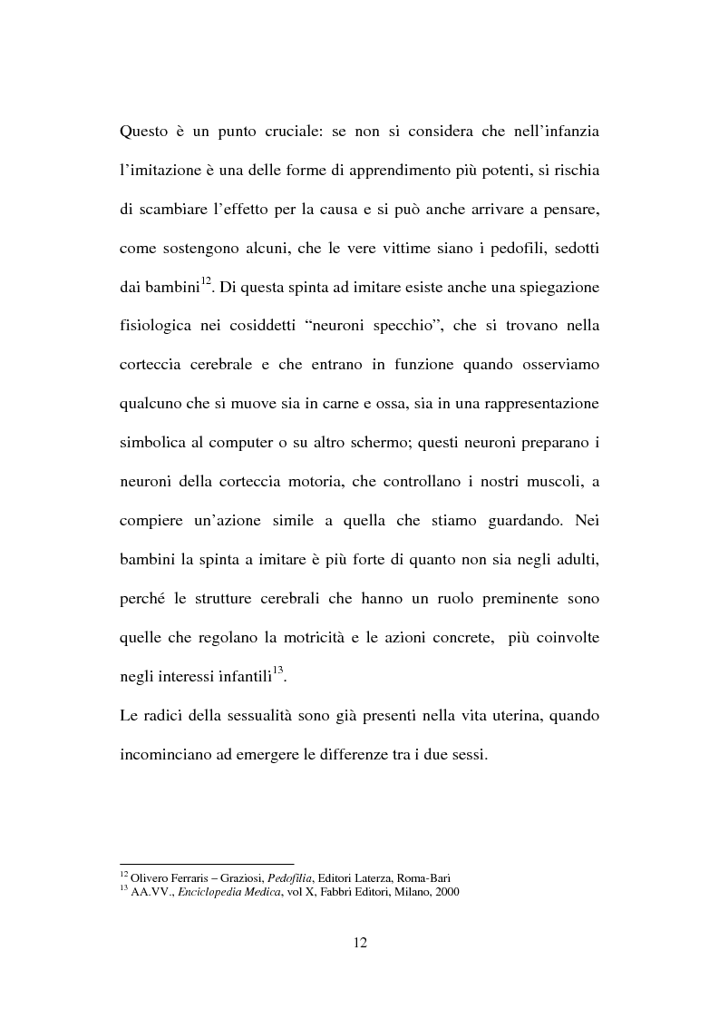 Anteprima della tesi: La nuova normativa penale contro la pedofilia, Pagina 12