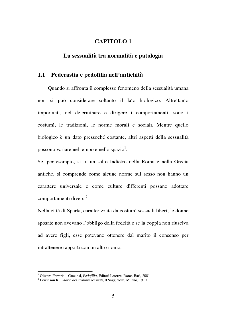 Anteprima della tesi: La nuova normativa penale contro la pedofilia, Pagina 5