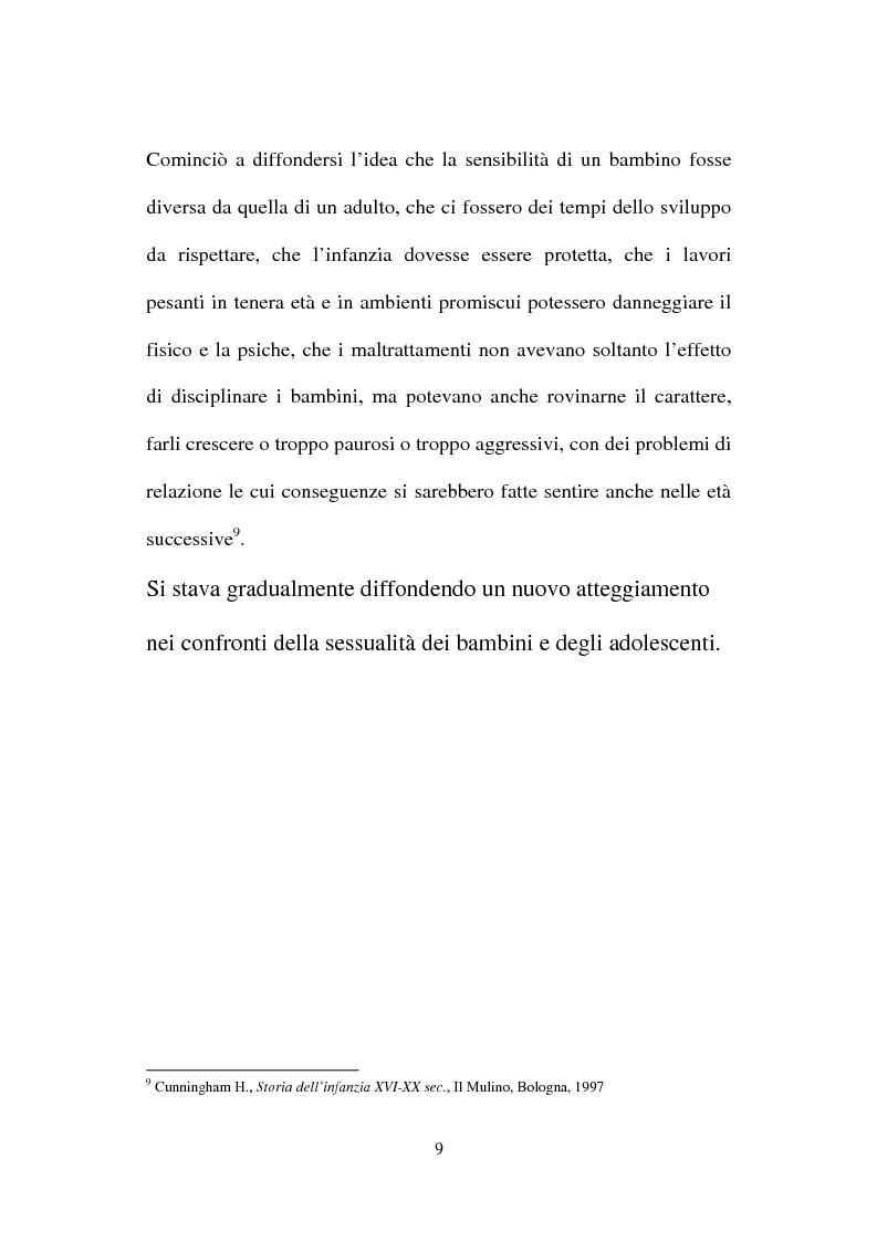 Anteprima della tesi: La nuova normativa penale contro la pedofilia, Pagina 9