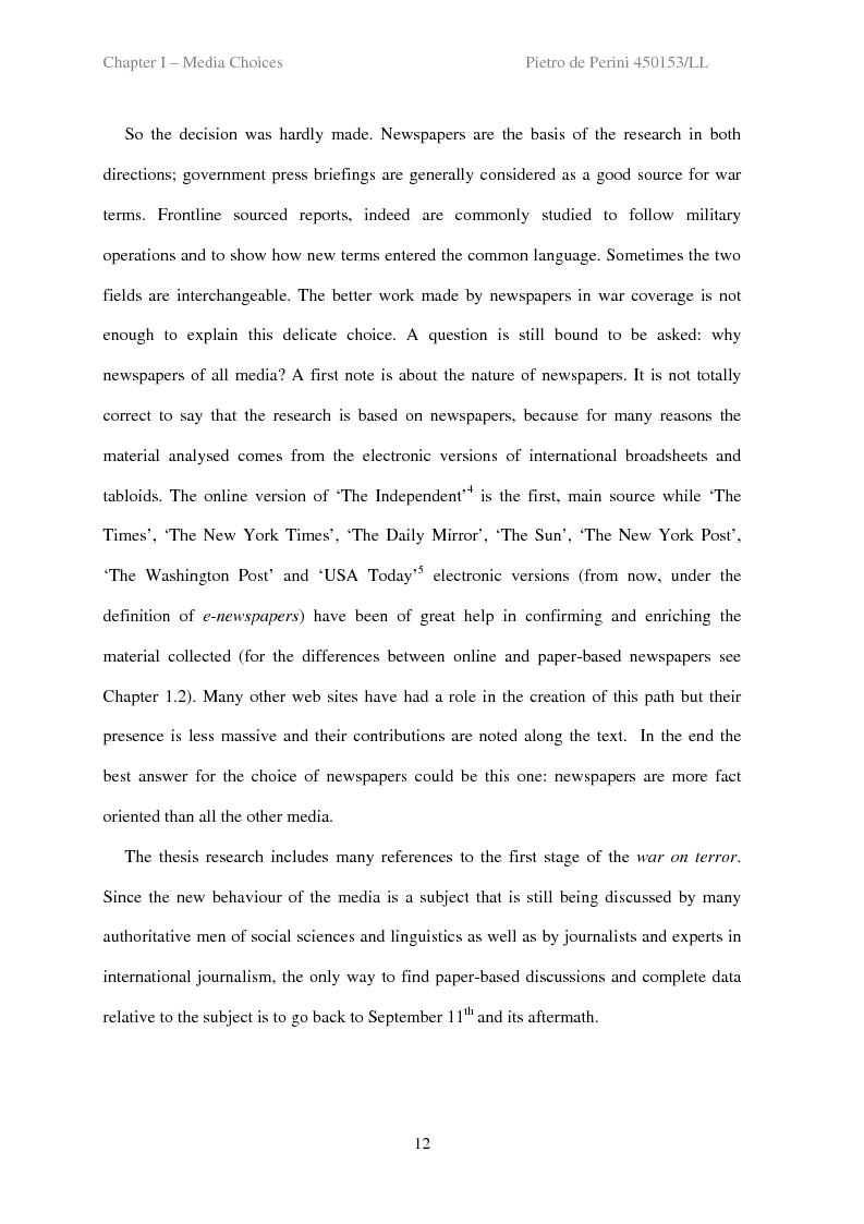 Anteprima della tesi: Decoding the Language of War, Pagina 12