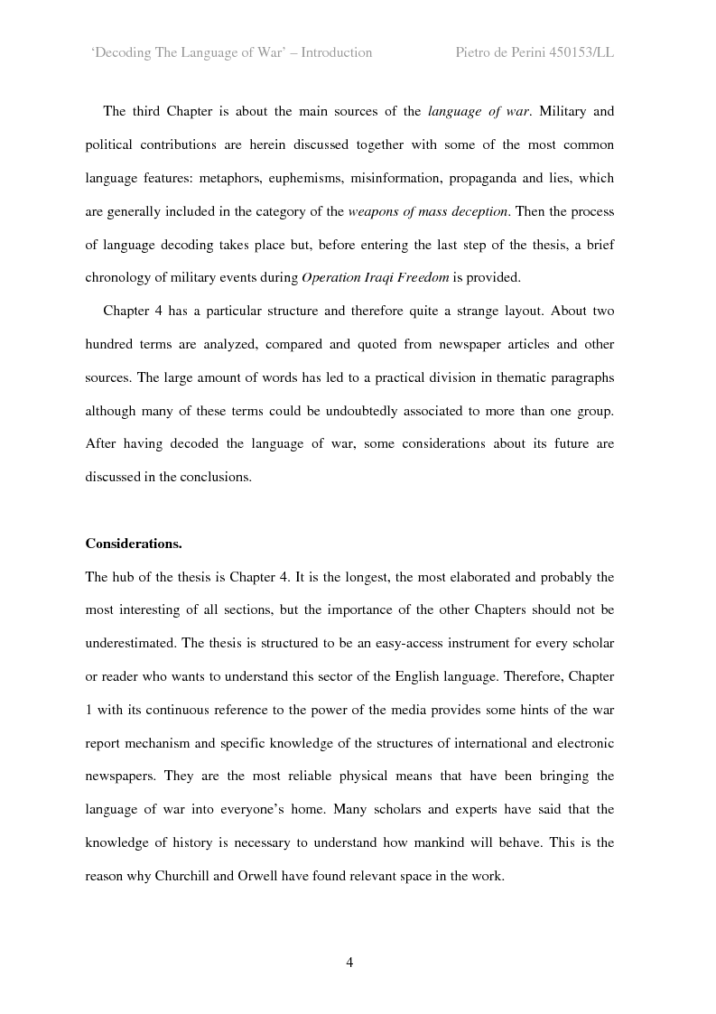 Anteprima della tesi: Decoding the Language of War, Pagina 4