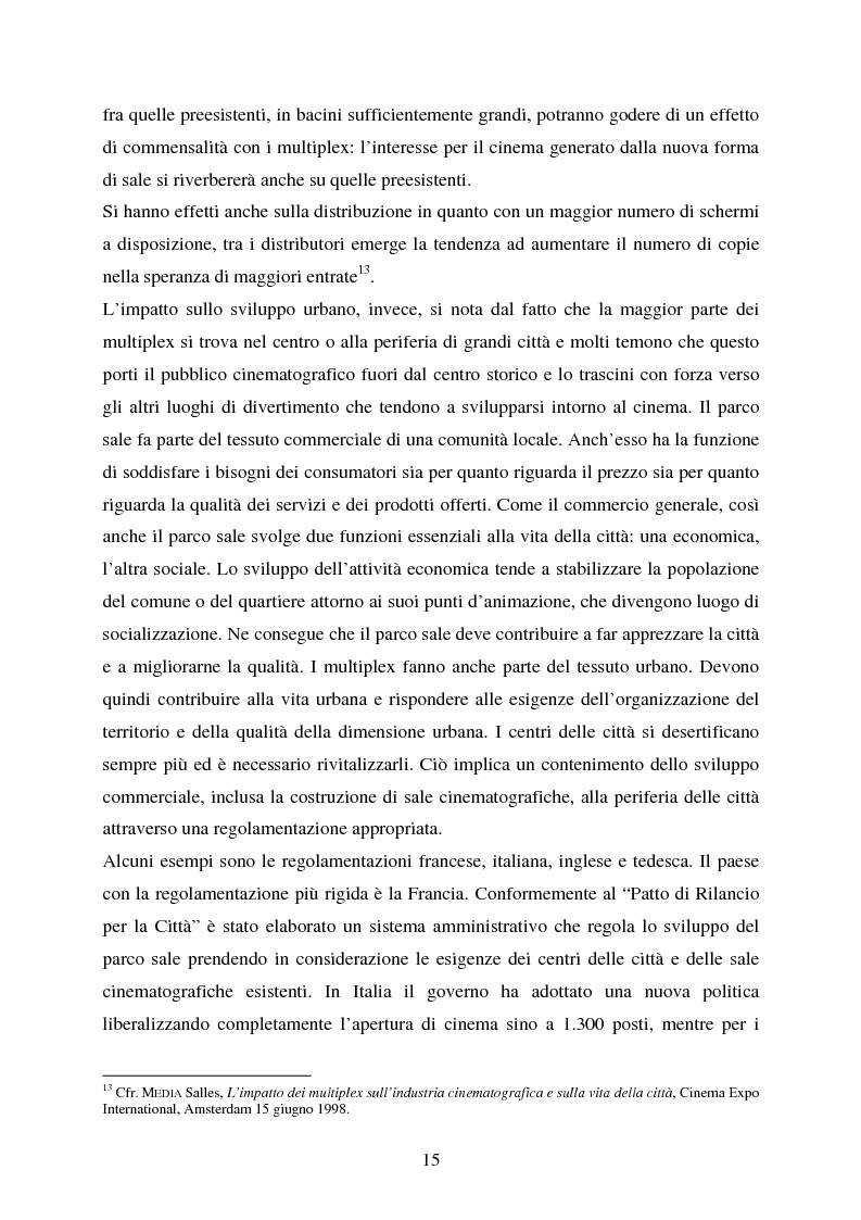 Anteprima della tesi: L'impiego delle nuove tecnologie per la promozione dell'esercizio cinematografico in Europa, Pagina 11