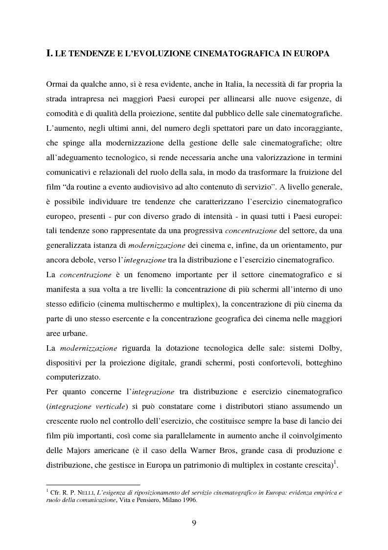 Anteprima della tesi: L'impiego delle nuove tecnologie per la promozione dell'esercizio cinematografico in Europa, Pagina 5