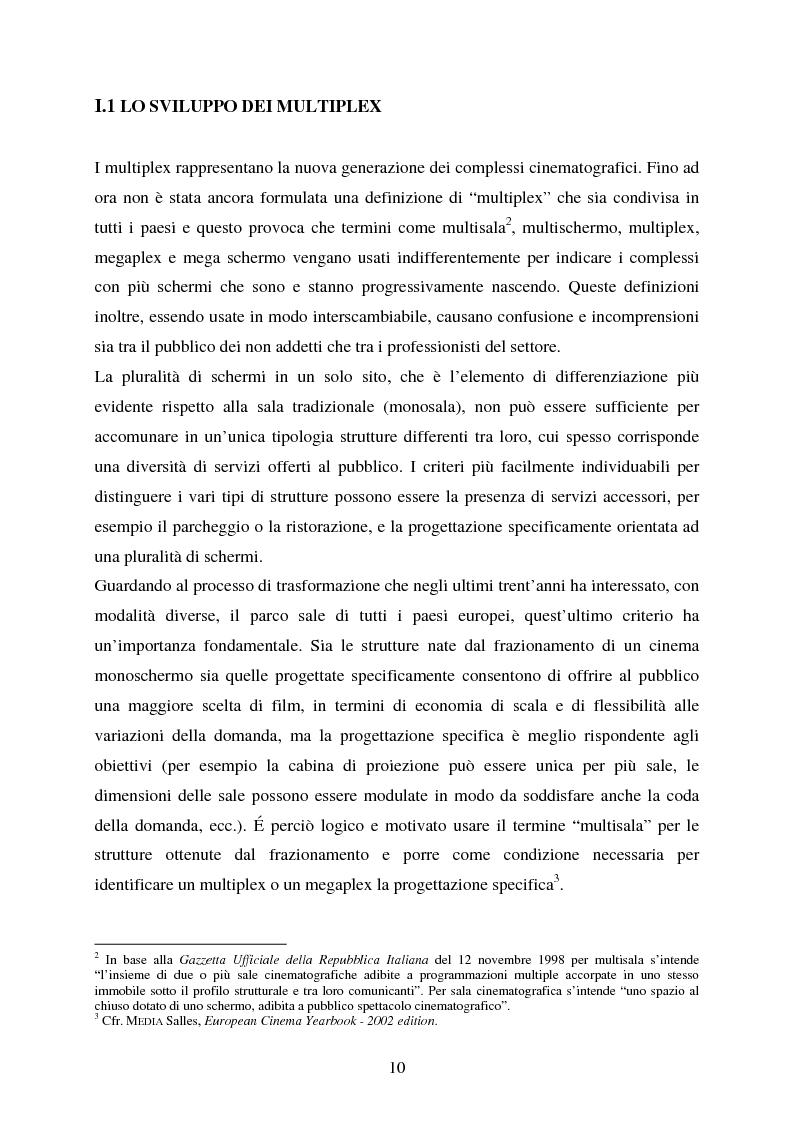 Anteprima della tesi: L'impiego delle nuove tecnologie per la promozione dell'esercizio cinematografico in Europa, Pagina 6