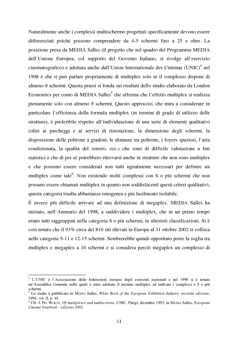 Anteprima della tesi: L'impiego delle nuove tecnologie per la promozione dell'esercizio cinematografico in Europa, Pagina 7