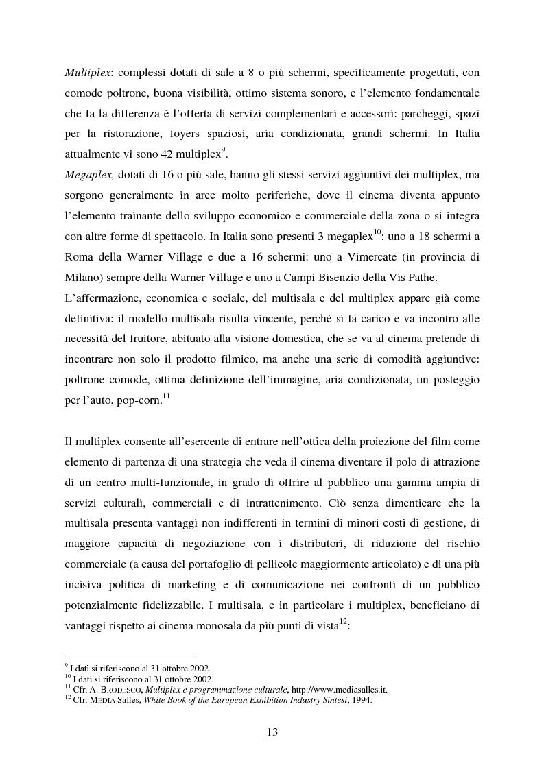 Anteprima della tesi: L'impiego delle nuove tecnologie per la promozione dell'esercizio cinematografico in Europa, Pagina 9