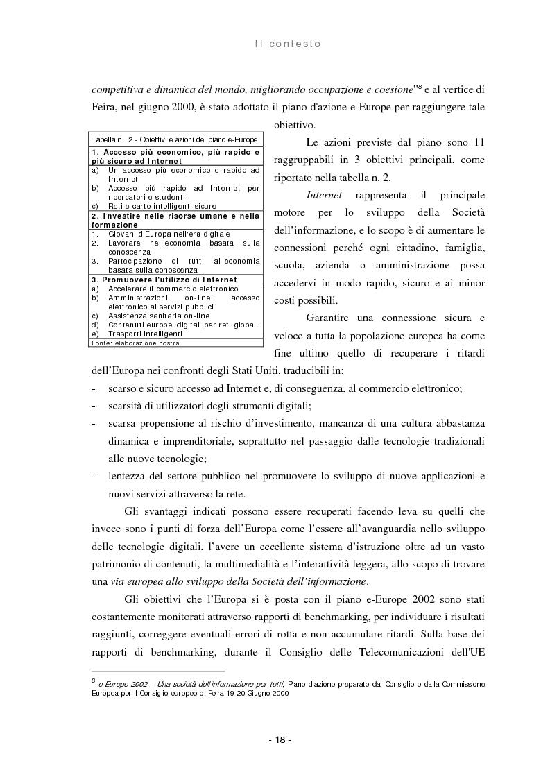 Anteprima della tesi: Il ruolo delle regioni nello sviluppo dell'e-government, Pagina 10