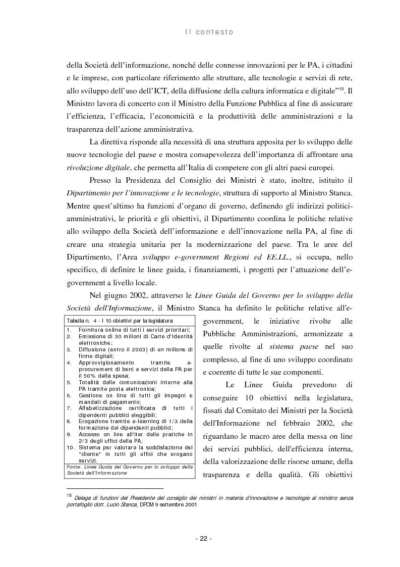 Anteprima della tesi: Il ruolo delle regioni nello sviluppo dell'e-government, Pagina 14