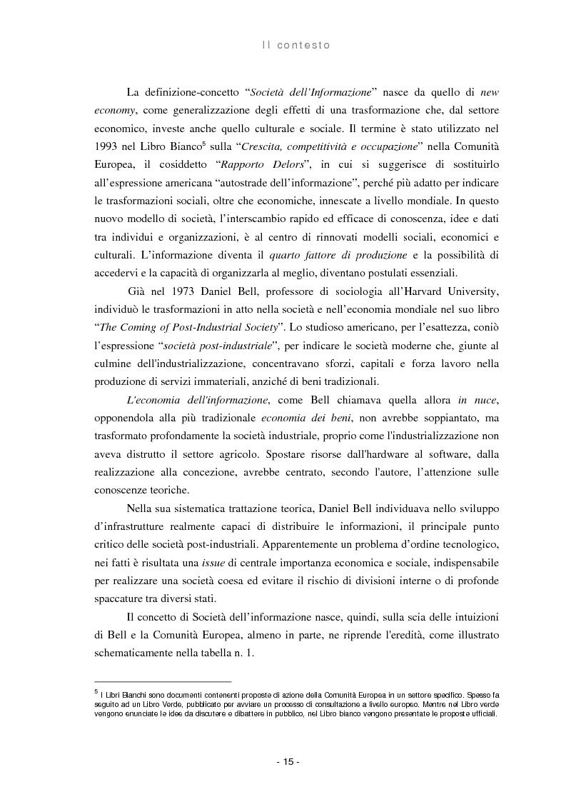 Anteprima della tesi: Il ruolo delle regioni nello sviluppo dell'e-government, Pagina 7