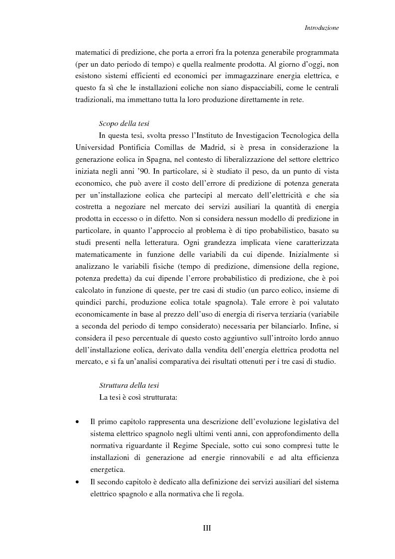 Anteprima della tesi: Impatto della generazione eolica sull'uso dei servizi ausiliari in regime di libero mercato, Pagina 3