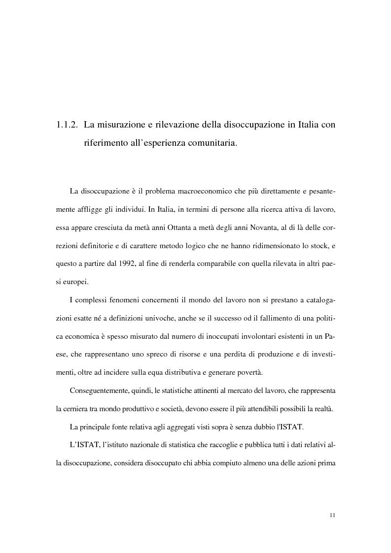 Anteprima della tesi: Divari interregionali nella disoccupazione, Pagina 15