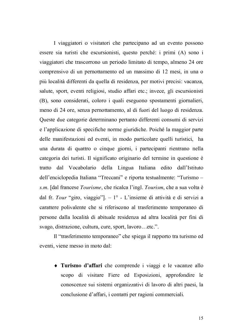Anteprima della tesi: Eventi e manifestazioni turistiche. Ruolo promozionale e commerciale. Il caso World Travel Market., Pagina 13