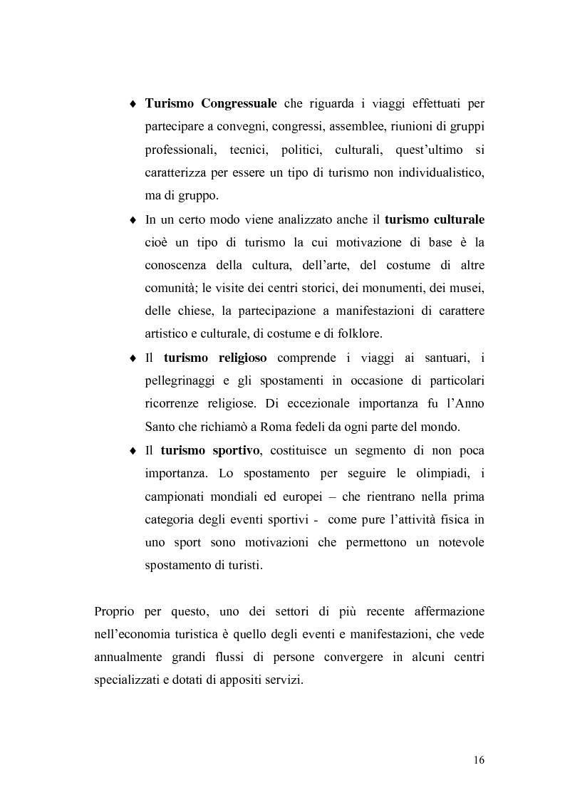 Anteprima della tesi: Eventi e manifestazioni turistiche. Ruolo promozionale e commerciale. Il caso World Travel Market., Pagina 14