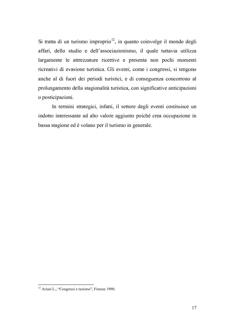 Anteprima della tesi: Eventi e manifestazioni turistiche. Ruolo promozionale e commerciale. Il caso World Travel Market., Pagina 15