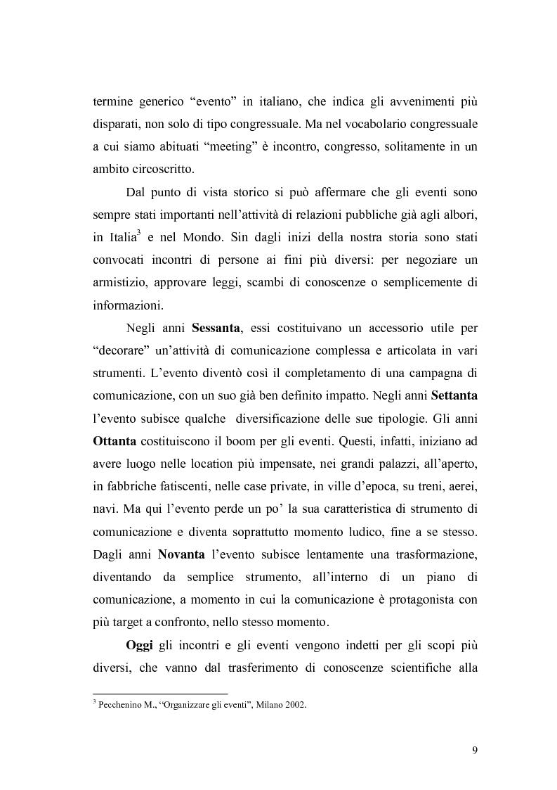 Anteprima della tesi: Eventi e manifestazioni turistiche. Ruolo promozionale e commerciale. Il caso World Travel Market., Pagina 7