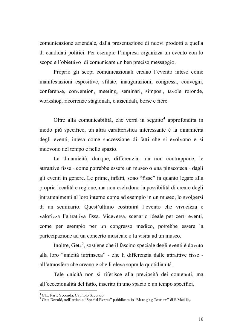 Anteprima della tesi: Eventi e manifestazioni turistiche. Ruolo promozionale e commerciale. Il caso World Travel Market., Pagina 8