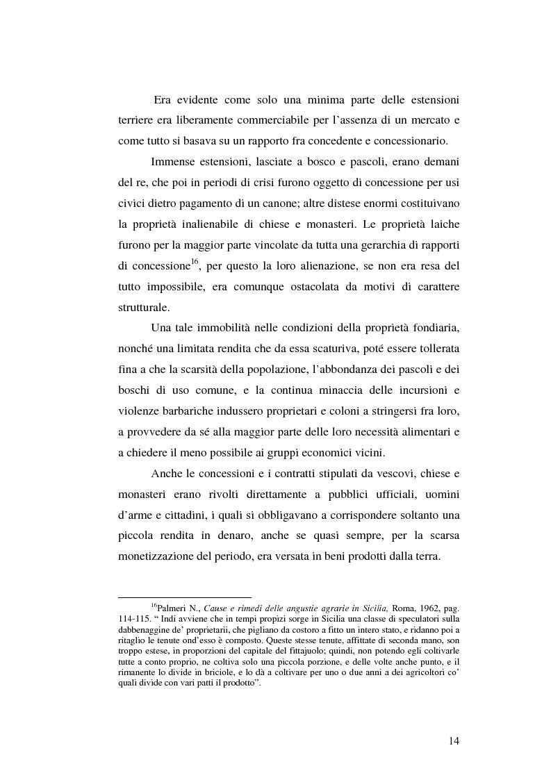 Anteprima della tesi: Il grano in Sicilia nei secoli XIII-XV, Pagina 14