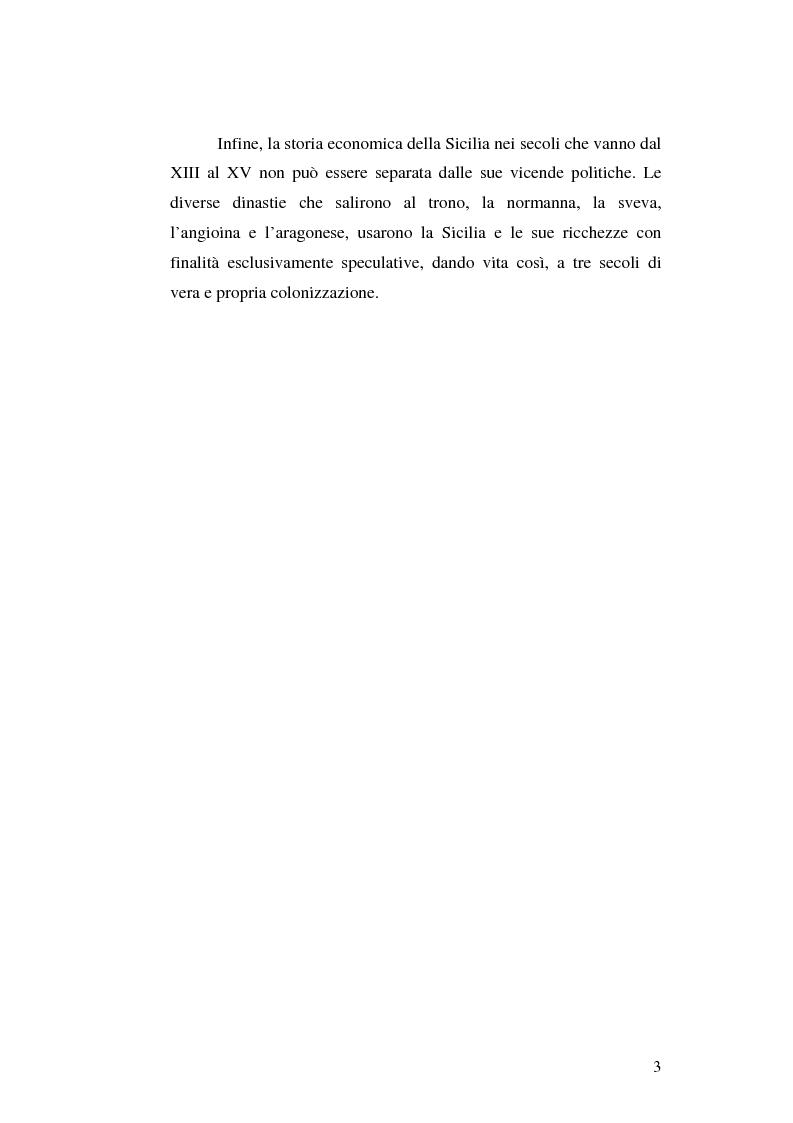 Anteprima della tesi: Il grano in Sicilia nei secoli XIII-XV, Pagina 3