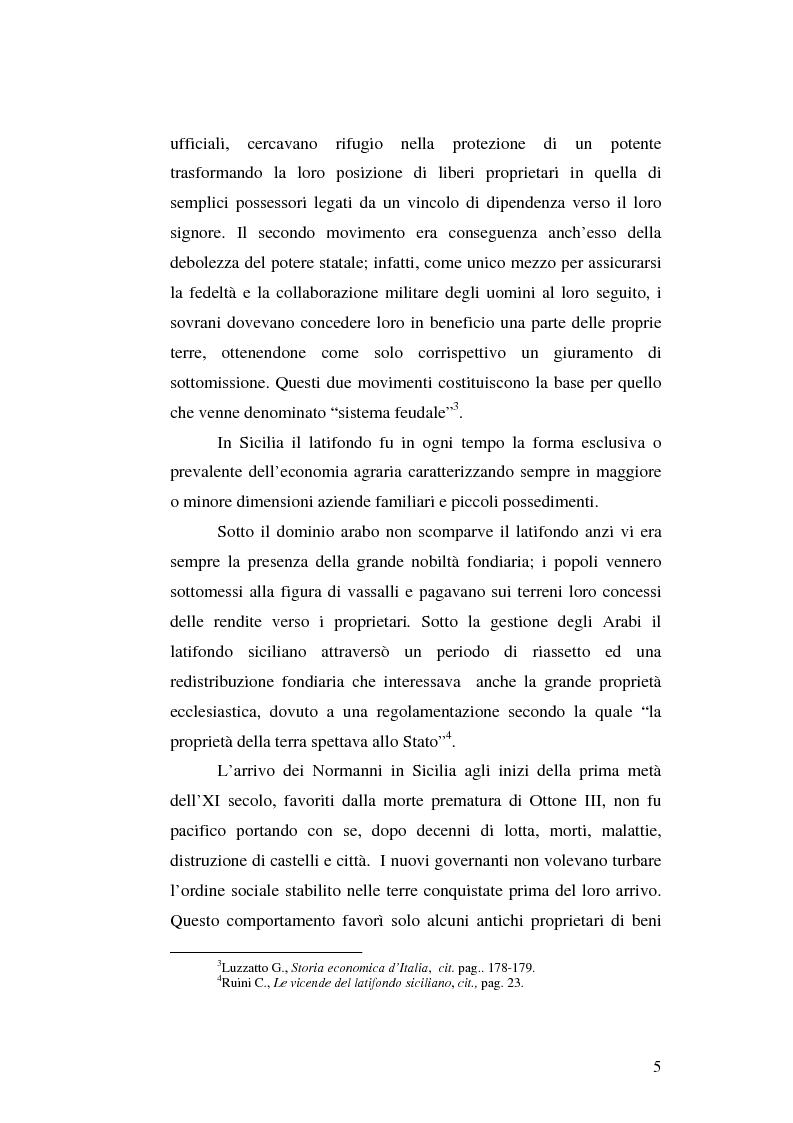 Anteprima della tesi: Il grano in Sicilia nei secoli XIII-XV, Pagina 5