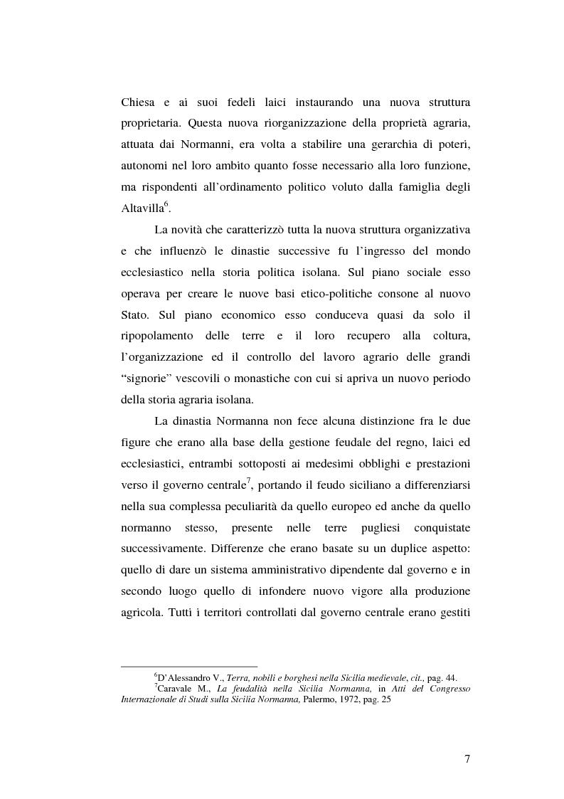 Anteprima della tesi: Il grano in Sicilia nei secoli XIII-XV, Pagina 7