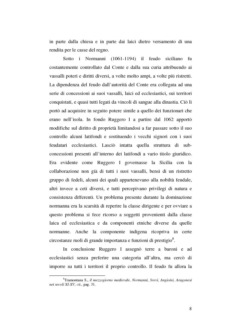 Anteprima della tesi: Il grano in Sicilia nei secoli XIII-XV, Pagina 8